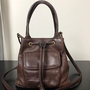 Vintage Fossil | Leather Convertible Bucket Bag K8